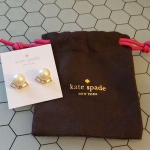 Kate Spade Pearl and Crystal Stud Earrings